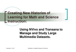 Creating New Histories of Learning for Math and Science Instruction: