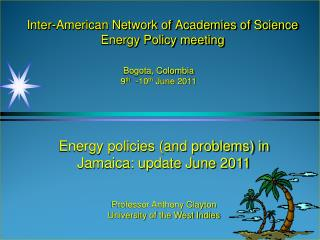 Inter-American Network of Academies of Science Energy Policy meeting