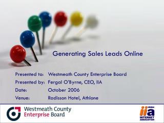 Generating Sales Leads Online