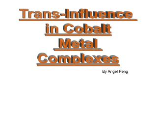 Trans-Influence  in Cobalt  Metal  Complexes