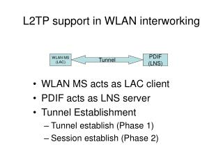 L2TP support in WLAN interworking