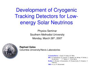 Development of Cryogenic Tracking Detectors for Low-energy Solar Neutrinos