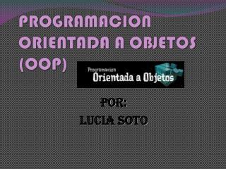 PROGRAMACION ORIENTADA A OBJETOS (OOP)