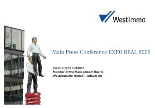 Main Press Conference EXPO REAL 2009