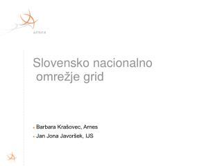 Slovensko nacionalno  omrežje grid