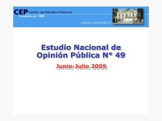 Estudio Nacional de  Opinión Pública N° 49