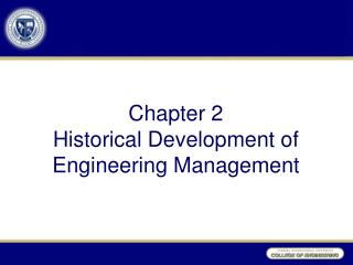 Chapter 2 Historical Development of Engineering Management
