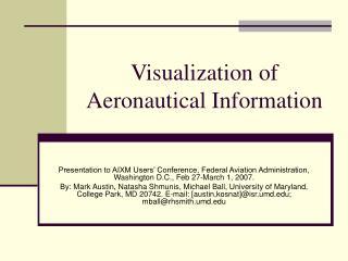 Visualization of Aeronautical Information