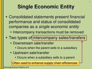 Single Economic Entity