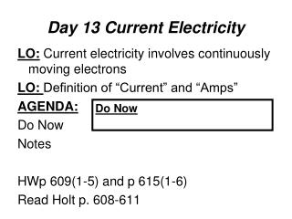 Day 13 Current Electricity