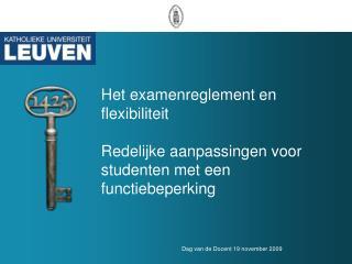 Sessie Examens en flexibiliteit