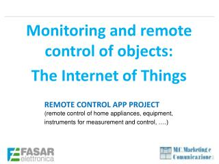 REMOTE CONTROL APP PROJECT ( remote control of home appliances, equipment,