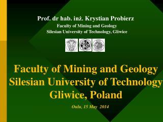 Prof. dr hab. inż.  Krystian Probierz