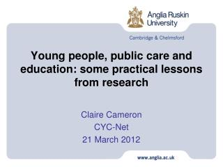 Young people, public care and education: some practical lessons from research