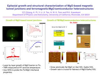 Growth of MgO-based tunnel junctions