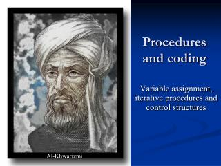 Procedures and coding