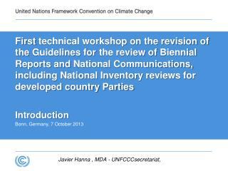 Javier Hanna , MDA - UNFCCCsecretariat,
