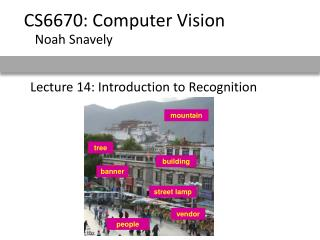 Lecture 14: Introduction to Recognition
