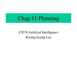 Chap.11 Planning