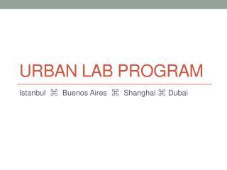 Urban Lab Program