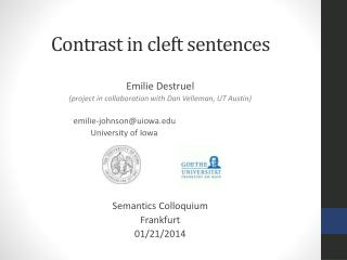 Contrast in cleft sentences