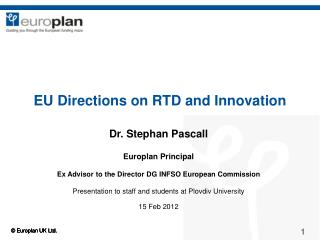 EU Directions on RTD and Innovation