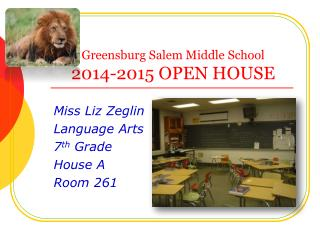 Greensburg Salem Middle School 2014-2015 OPEN  HOUSE