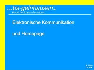 Elektronische Kommunikation  und Homepage