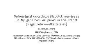 dr.Hamvas Szilárd MAOT Konferencia, 2014