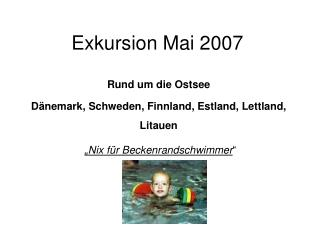 Exkursion Mai 2007