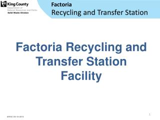 Recycling and Transfer Station