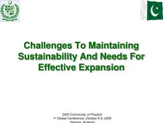 Challenges To Maintaining Sustainability And Needs For Effective Expansion