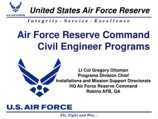 Air Force Reserve Command Civil Engineer Programs