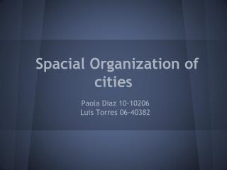 Spacial Organization of cities