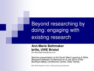 Beyond researching by doing: engaging with existing research