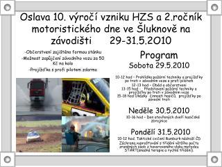 Program Sobota 29.5.2010