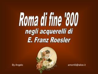 Acquerelli romani