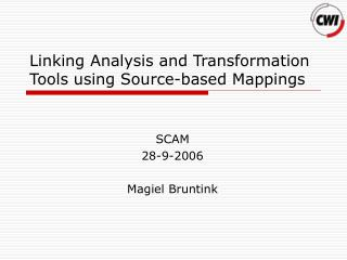 Linking Analysis and Transformation Tools using Source-based Mappings