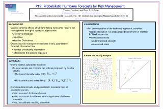 P19: Probabilistic Hurricane Forecasts for Risk Management