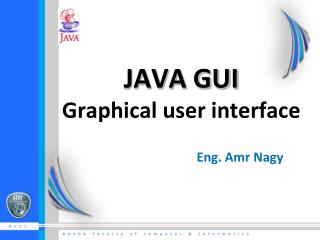 JAVA GUI  Graphical user interface