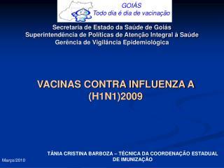 VACINAS CONTRA INFLUENZA A (H1N1)2009