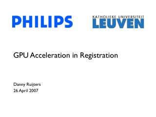 GPU Acceleration in Registration