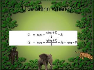 U de Mann Whitney