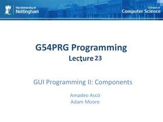 GUI Programming II: Components
