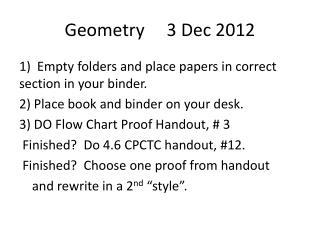 Geometry     3 Dec 2012