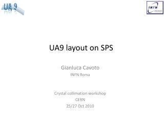 UA9 layout on SPS