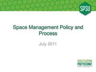 Space Management Policy and Process