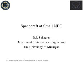 Spacecraft at Small NEO