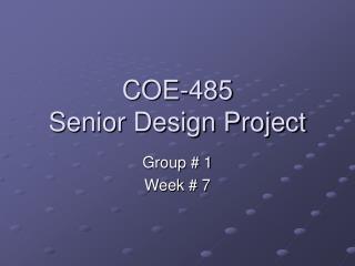 COE-485 Senior Design Project