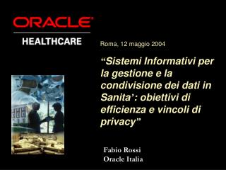 Fabio Rossi Oracle Italia